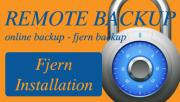 Remote Backup - Fjerninstallation